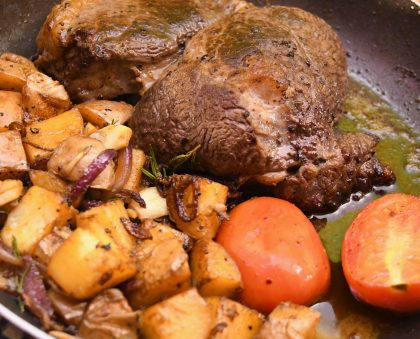 Pan fried Rump steak with Potatoes