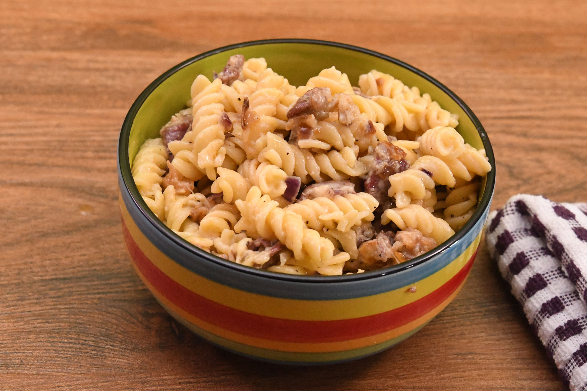 Bacon and Cheese pasta