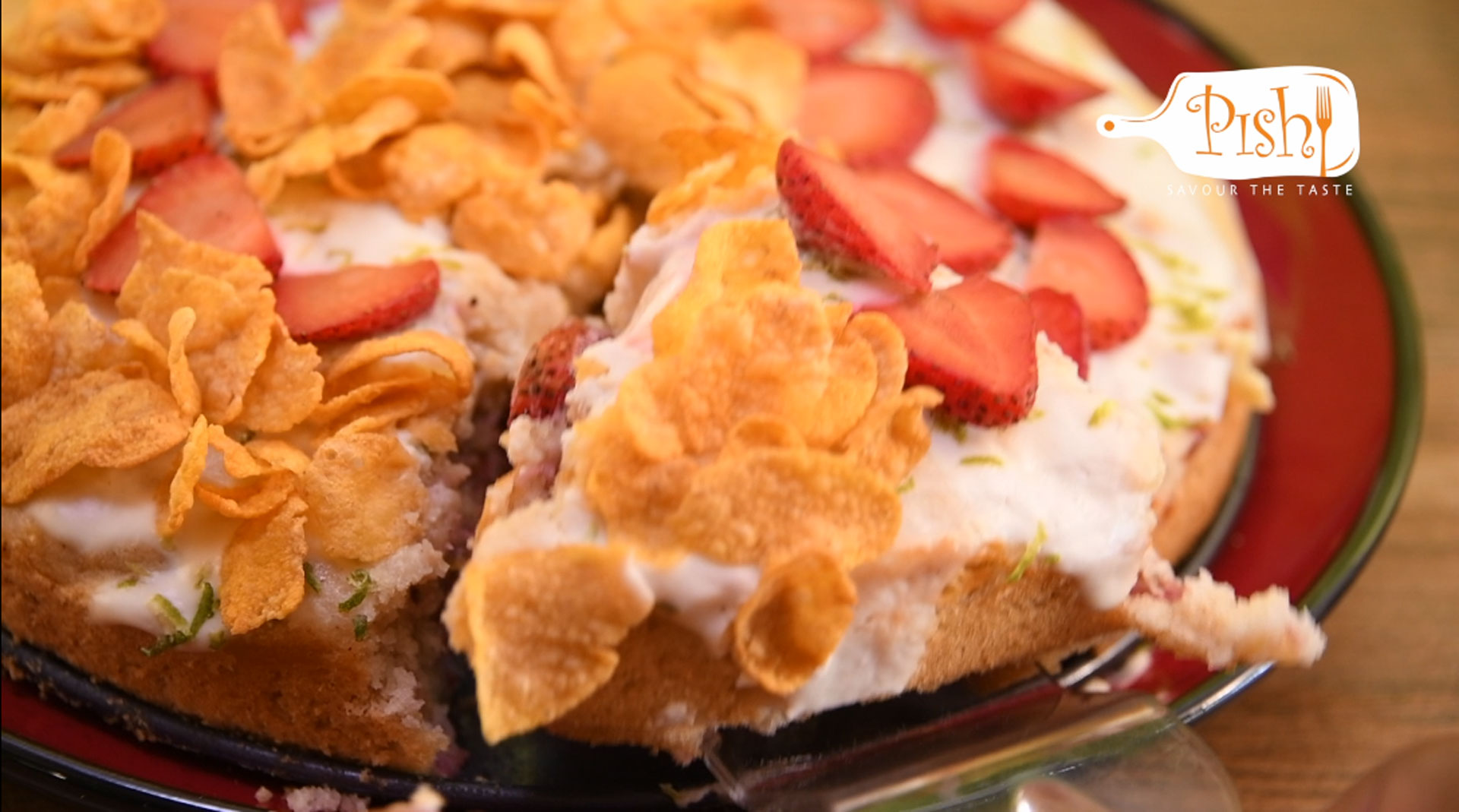 Cereal Strawberry Cake