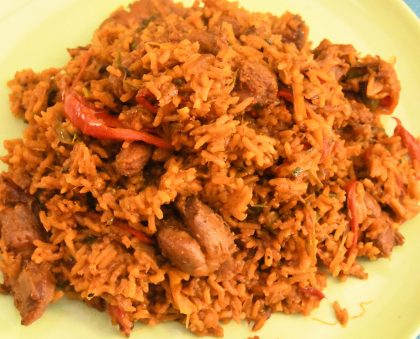 Spiced Gizzard Rice