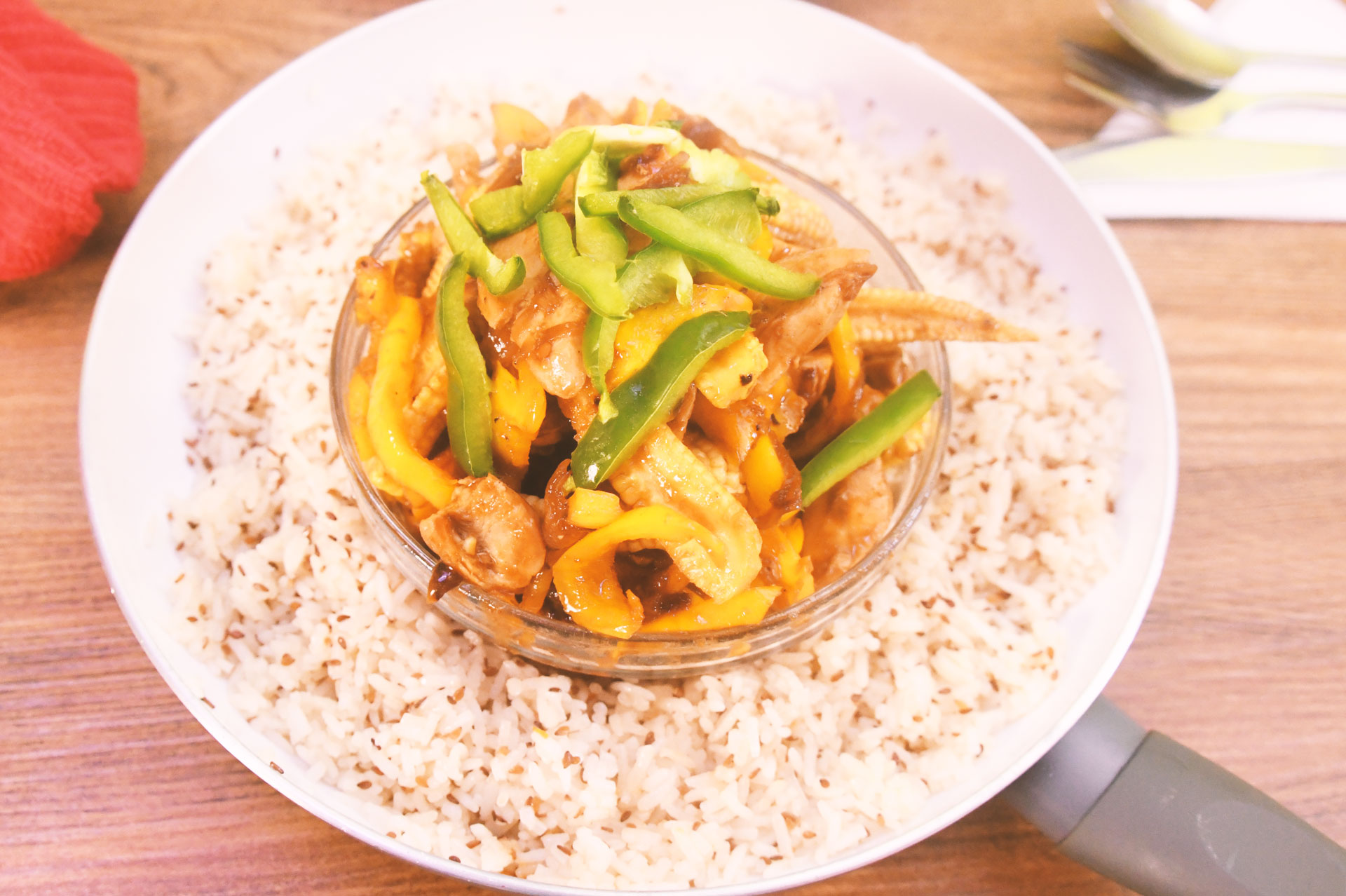 Stir-fry Chicken & Sesame rice