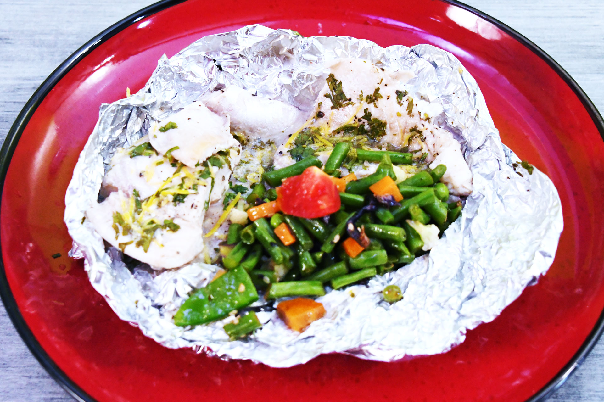 Healthy Steamed Fish and Veg