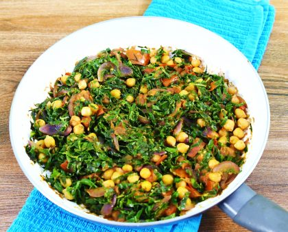 Chickpea and Sukuma wiki Curry