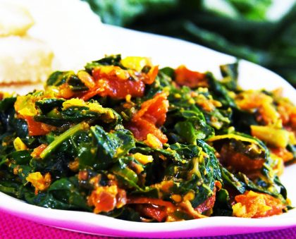 Zingy Spicy Spinach