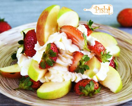 Fruits in Whipped Cream
