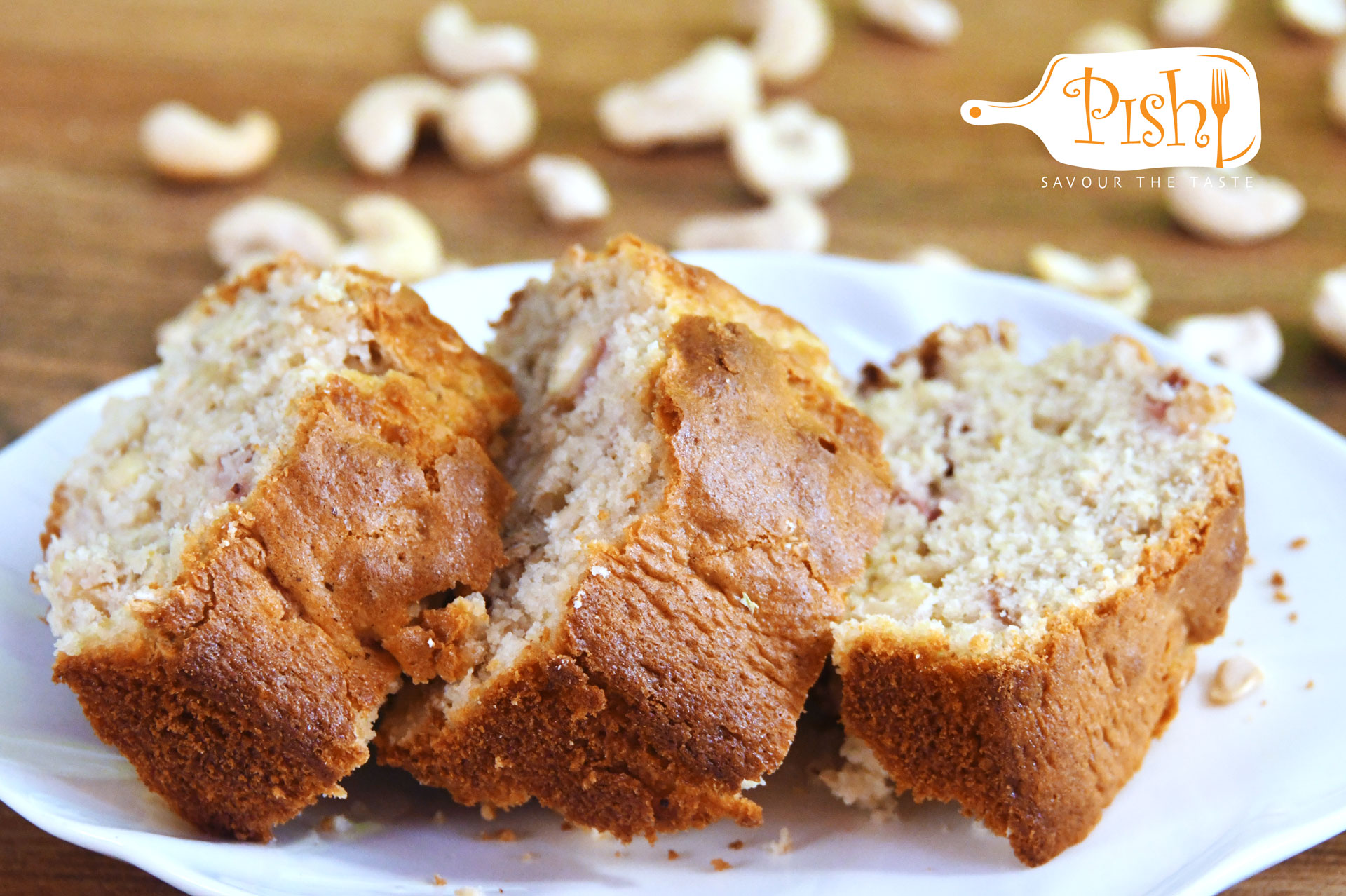 Lemon, Cashew nuts and Strawberry Loaf