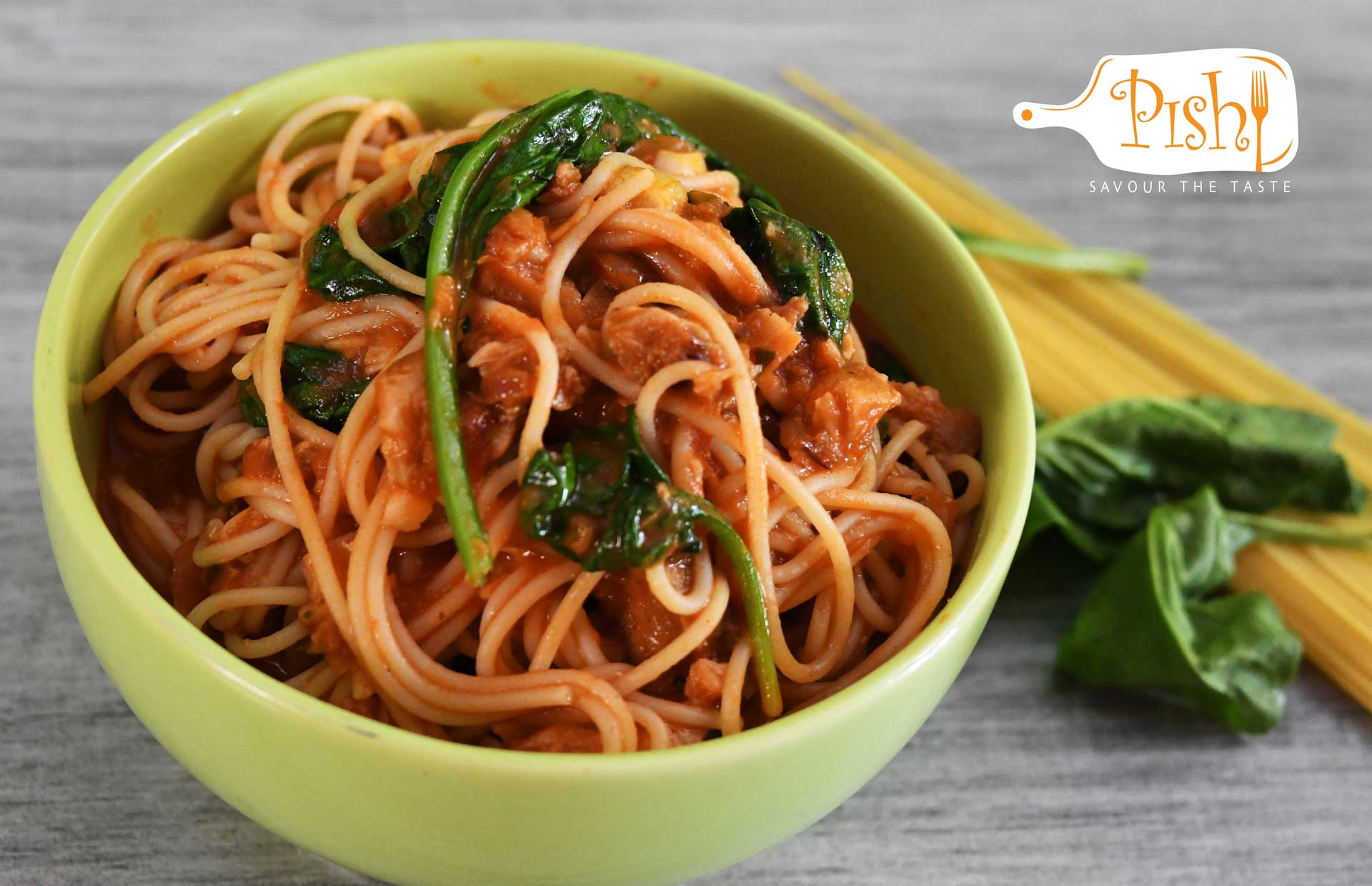 Red Snapper Spinach Spaghetti