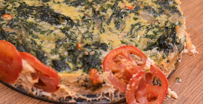 Spicy Spinach and Onion Fritata