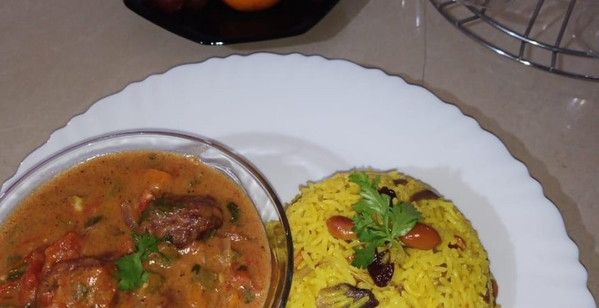 #PISHIHomeChef: Turmeric Rice with Meatballs